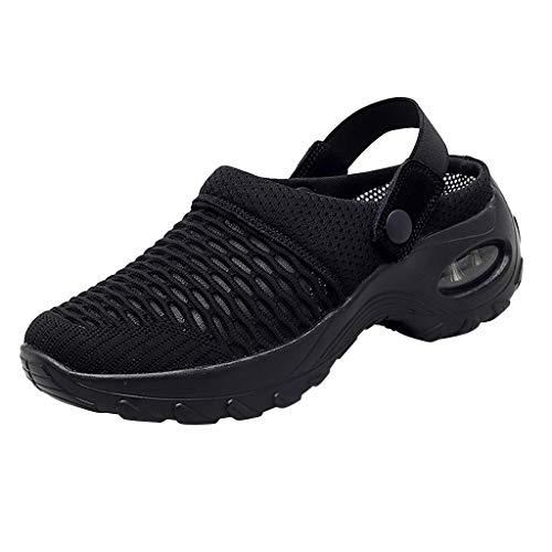Geilisungren Mule Damen Schuhe Atmungsaktive Sandalen Casual Air Cush-Slip-On-Schuhe Summer Platform Mesh Mules Sneaker leichte Strandschuhe Outdoor Hausschuhe Wanderschuhe