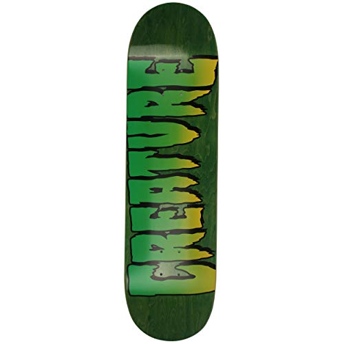 Creature Logo Stump 1 Skateboard-Brett / Deck, 21,6 cm, Grün