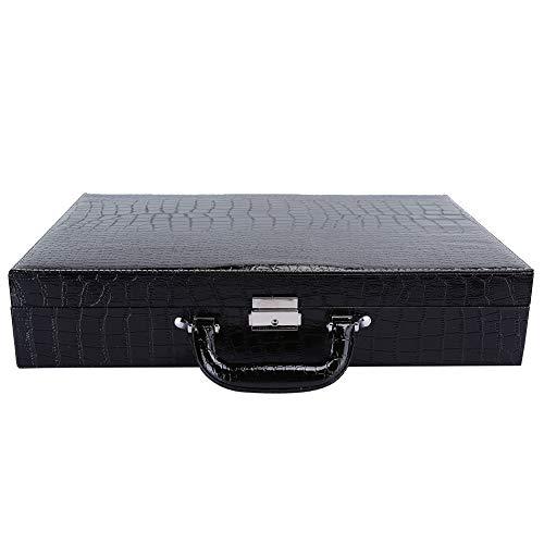 con maleta de almacenamiento de reloj clave, caja de reloj de cuero PU, para viajes, hombres, mujeres, gafas de sol