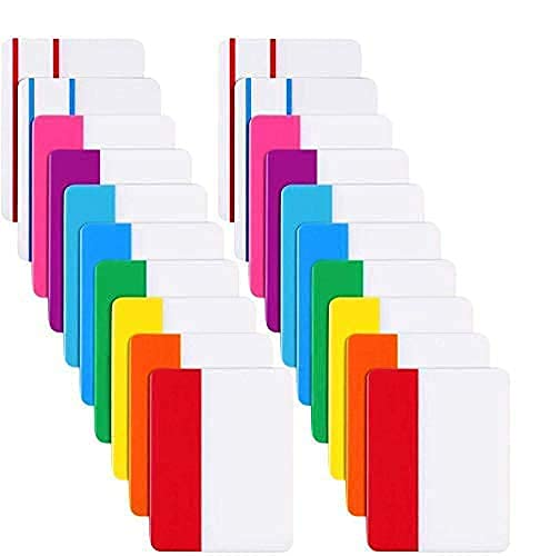 LuLyLu 400 5,1 cm selbstklebende Tabs, beschreibbare und repositionierbare Aktenregister für Buchseiten oder Marker, 20 Sets mit 10 Farben