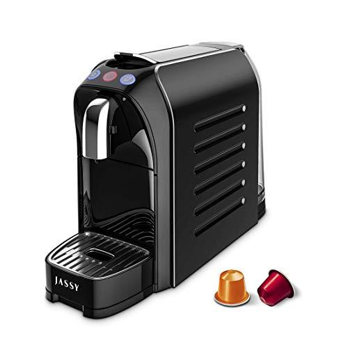 JASSY Espressomaschine Kapsel Kaffeemaschine Kompatibel mit Nespresso Originalkapseln, 19 Bar Druck Espresso Kaffeemaschine mit Austauschbaren Seitenplatten,Programmierbare Bechersteuerung,1250W