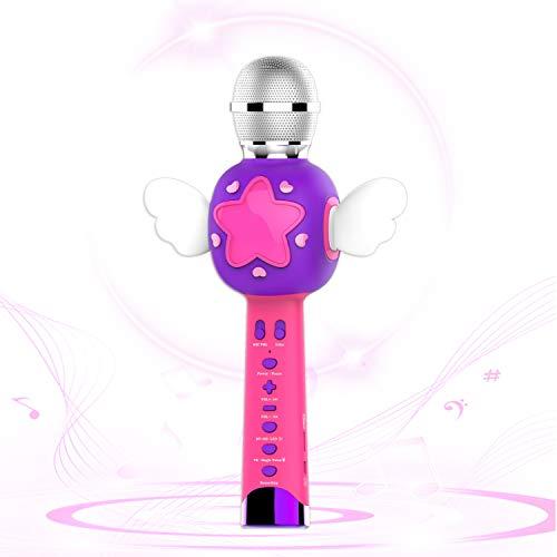TiMi Tree Kids Karaoke Microphone, Wireless Bluetooth Karaoke Speaker for Kids Singing...