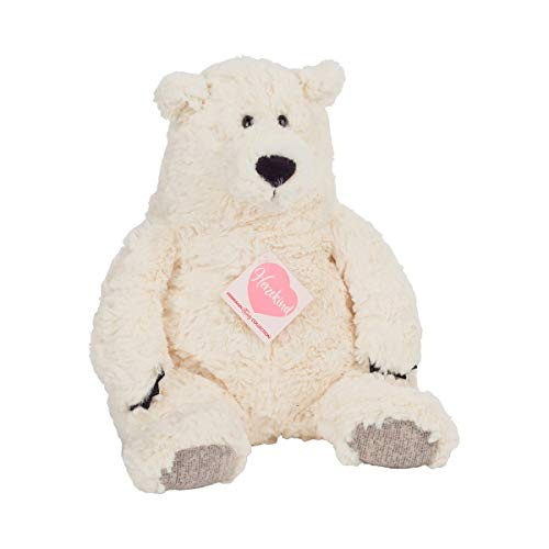 Hermann Teddy Collection T93876 7 Polarbaer Bridget, ca. 34cm, Herzekind, weiß