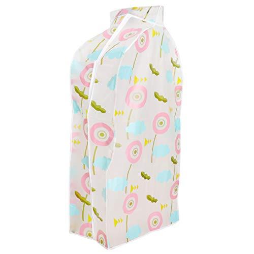 EXCEART - Sacos de armazenamento de roupas, capa protetora para armário, à prova de poeira, à prova d'água, para pendurar roupas, bolsa de armazenamento para casaco, vestido (60 x 90 cm), As Shown, 60