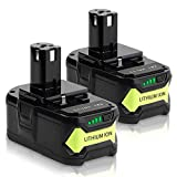 Jialitt 2pack <span class='highlight'>18V</span> <span class='highlight'>5.0Ah</span> Replacement Battery for Ryobi 18-Volt Cordless Power Tools One  <span class='highlight'>Lithium</span>-<span class='highlight'>Ion</span> Battery RB18L15 RB18L25 RB18L30 RB18L40 RB18L50 P102 P103 P107 P108 P109