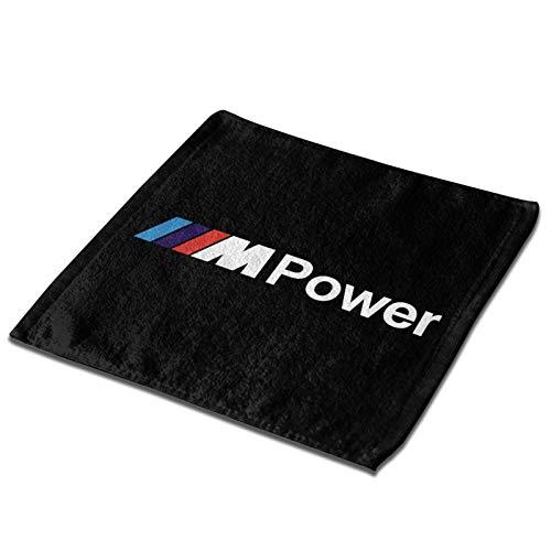 N / A B-M-W Power Towel - Bufanda cuadrada de poliéster, cómoda y suave, 33 x 33 cm