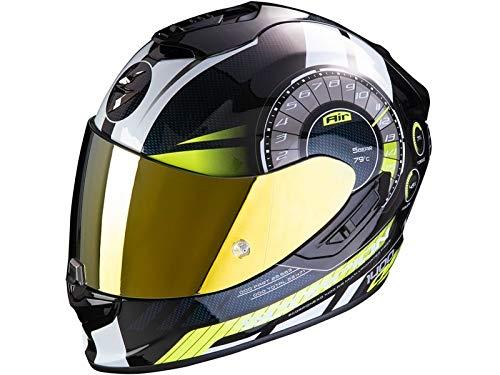 Scorpion - Casco de moto integral EXO-1400 Air Torque Neon amarillo, talla XS