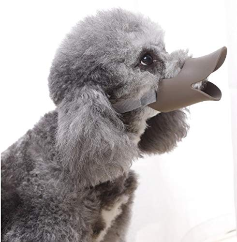 WANLIAN Silicone Moderate Duckbill Muzzle Mask for Dog Anti Bite Duck Mouth Shape Dog Mouth Covers Anti-Called Muzzle Masks Pet Mouth Set Bite-Proof Silicone Material,1 PCS