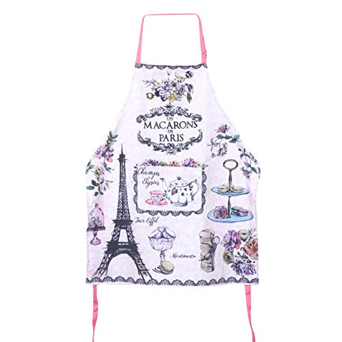 Wupettier Womens Kitchen Work Apron, Blue Printed Cartoon Sleeveless Housework Apron,fashion Unique Colors and Patterns Sleeveless Apron for Hostess Gifts (A)