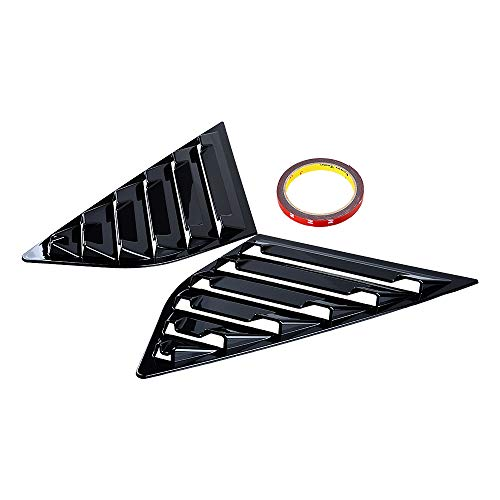 Astra DepotS 2PCS Window Side Louvers Vent ABS Car Side Window Cover Compatible with Focus ST RS 2013-2018 Hatchback (Gloss Black)
