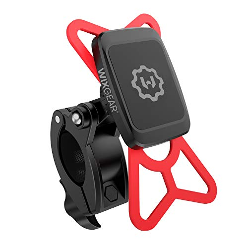 WizGear Universal Magnetic Bicycle & Motorcycle Handlebar Phone Holder for Cell Phones and GPS with Fast Swift-Snap Technology,