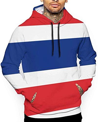 Ksiwre Kapuzenpullover,Hemden Tops Thai Flag Men's 3D Pullover,Long Sleeve Hoodies,Sweatshirt Tops
