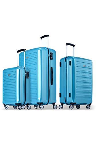 Probeetle by Eminent Luggage Set Voyager IX (2. Gen) 3 pcs Lightweight Polycarbonate Hard Shell 4 Silent Wheels TSA Lock Turquoise
