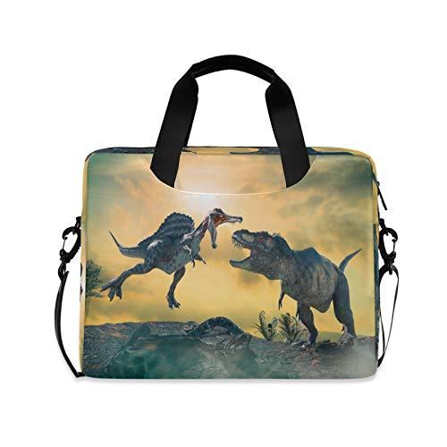 JNlover Forest Animal Dinosaur Laptop Bag 16 inch, Portable Sleeve Briefcase Laptop Case Notebook Computer Carrying Case Bag for Women Men