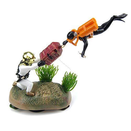 Alfie Pet - Eesa Aquarium Treasure Chest Hunter Diver Ornament