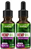 (2 Pack) Hemp Oil Extract | Grown & Made in USA | Omega 3, 6, 9 for Better Skin, Hair & Nails (2)