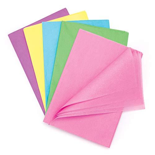 Baker Ross Großpackung Seidenpapier in Pastellfarben (25 Stück) – für Kinder zum Basteln und Gestalten im Frühling