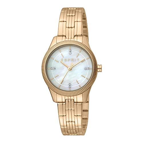 Esprit Reloj de pulsera para mujer Valentina MOP ES1L194M1035, oro rosado MB