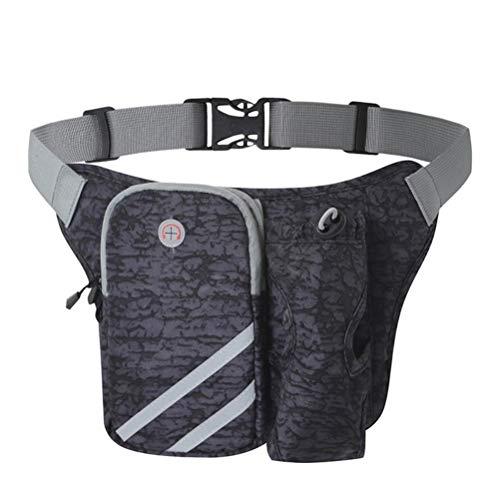 Tixiyu Riñonera deportiva con soporte para botella de agua, bolsa de cintura de ciclismo, bolsa impermeable a prueba de sudor para mujeres y hombres, para correr, caminar, senderismo, Blue (Azul)