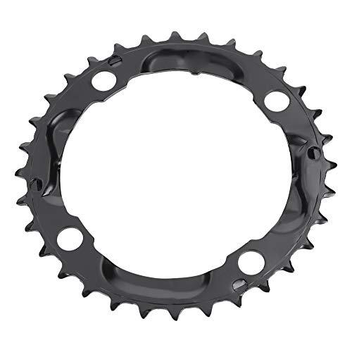 Dioche Plato de Bicicleta, Anillo de Cadena de Plato Redondo de Acero 32T 104 Mm BCD para Pieza de Bicicleta de Montaña Negro