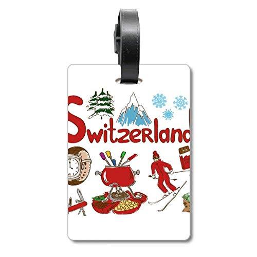 Etiqueta de identificación para Maleta con símbolo Nacional de Suiza