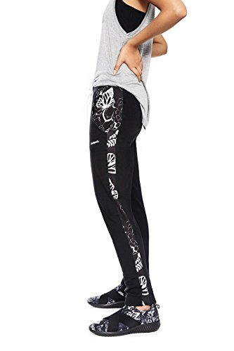 Desigual 18SOPK08/2000 pantalón sudadera con puño negro, talla S Negro L