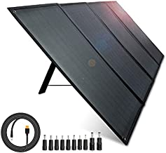 AIPER Foldable Solar Panel 100W with Voltmeter for RV Camping, Portable Solar Charger with 18V DC Output & USB Ports Zipper Pouch Kickstands Parallel Cable for Jackery Rockpals Power Station & Phones