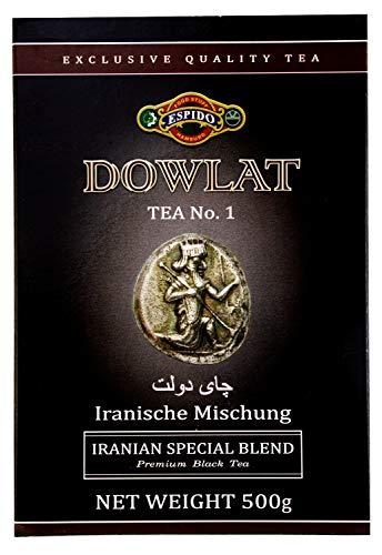 Dowlat Tee persischer Mischung schwarzer Tee 500 Gramm loser Tee