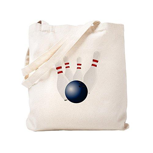CafePress Bowling-Pins Einkaufstasche, canvas, khaki, S