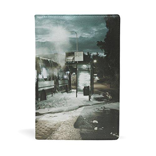 COOSUN Bus Stop Leather Book Cover Book Sox Fit Meest Hardcover Handboeken 5.8