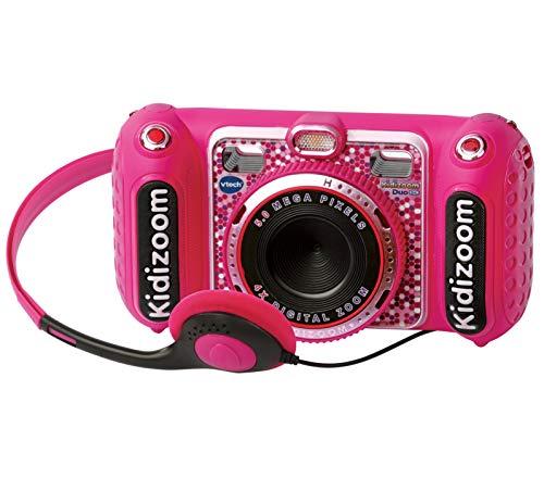 VTech- Kidizoom Duo DX Cámara Digital Para Niños, Color rosa (3480-520057)