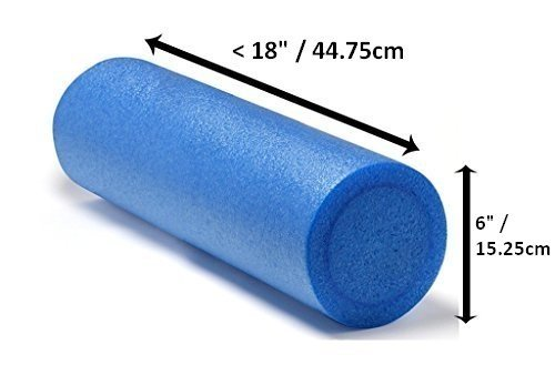 VLFit Rodillo de Masaje de Espuma de Fisioterapia, para Pilates, Yoga, Fitness, Gimnasio, recuperación de Dolores musculares - elección de Colores (Azul, Violeta, Rosa, Negro) 45cm x 15cm (Azul)