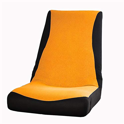 WHOJA Sillón Reclinable Ajuste de 4 velocidades Pequeño sofá Malla Transpirable Sillón reclinable Simple Simplicidad Moderna Balcón del Dormitorio Sillon Relax (Color : Orange)