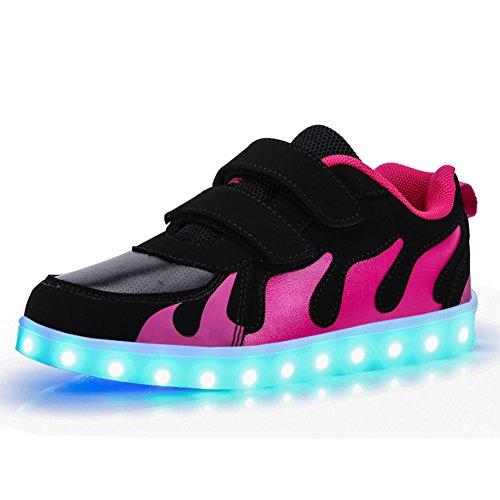KE- Zapatillas de deporte con luces de...