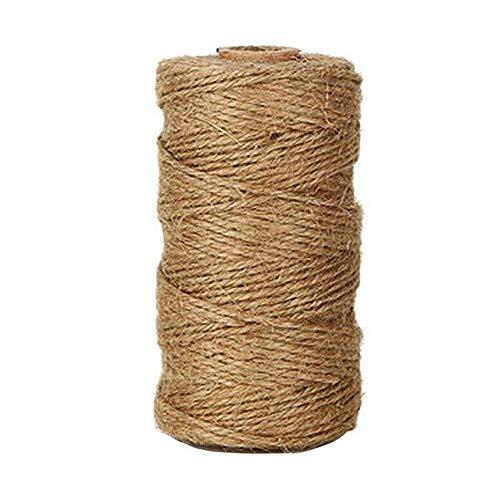 Westeng 1 mm trenzado cuerda de cáñamo sintético – Rollo de corde