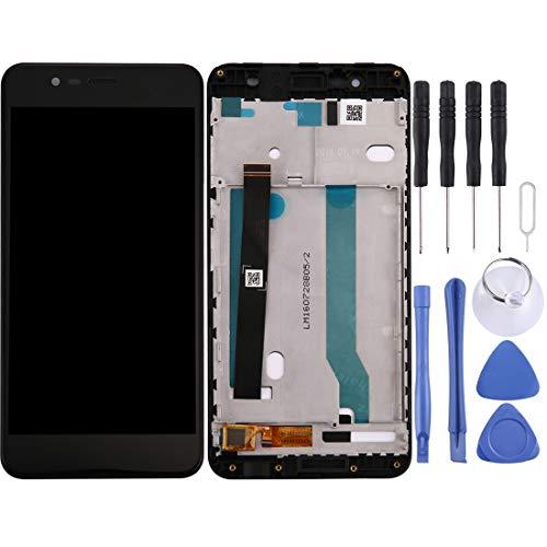 Mingxian Pantalla LCD y digitalizador Asamblea con Marco Completo for ASUS ZenFone 3 MAX / ZC520TL / X008D (Negro) (Color : Black)