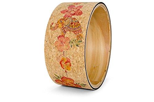 Yoloha Premium Cork Yoga Wheel Aztec, Strong, Non Slip, Sustainable, Soft, Durable, Foam, Premium, Handmade – Yoga Wheel Guide Included