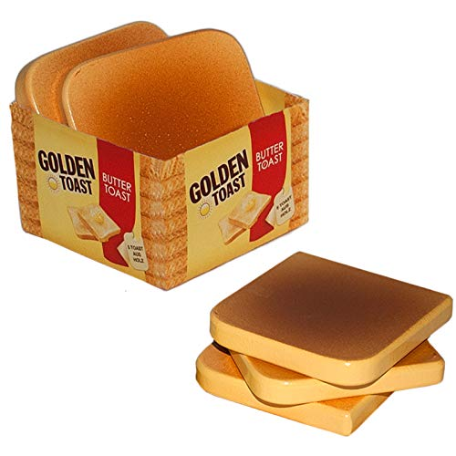 #1118 Kaufladenzubehör Golden Toast 5 Scheiben - Kaufladen Zubehör Kinderküche Kaufmannladen Holz Lebensmitte