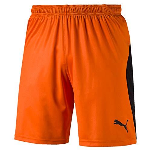 Puma Herren Liga Shorts Hose, GOLDEN Poppy Black, M