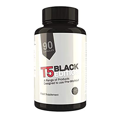 T5 Black Edition Fat Burner | 90 Capsules | One Months Supply | Increase Metabolism, Fat Burning and Reduce Appetite