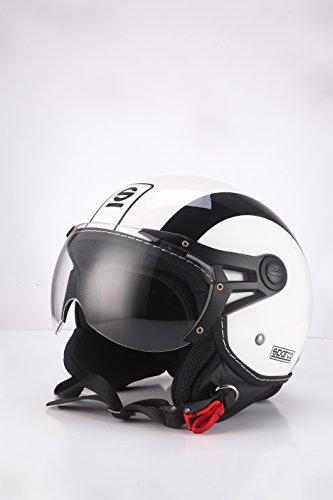 Sparco Riders Demi Jet 91997 Casco Moto, Bianco/Nero, L