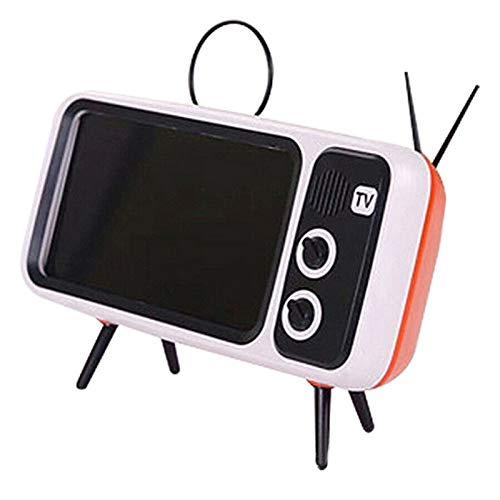 Yuui Mini altavoz retro TV soporte de pantalla de teléfono móvil altavoz de audio portátil inalámbrico