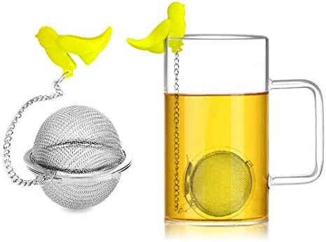 2 Pack Tea Ball Infuser Extra Fine Mesh Cooking Infuser Tea Strainer Filters Interval Diffuser product image