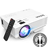 2020 Latest Projector, Mini Video Projector with 5500 LUX, 1080P Supported, Portable Outdoor Movie Projector, 176' Display Compatible with TV Stick, HDMI, USB, VGA, AV for Home Entertainment
