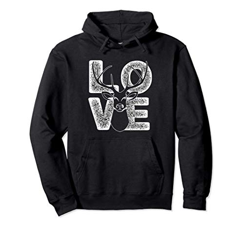I Love Deers Costume Cute Hunting Gift For Man And Woman Pullover Hoodie