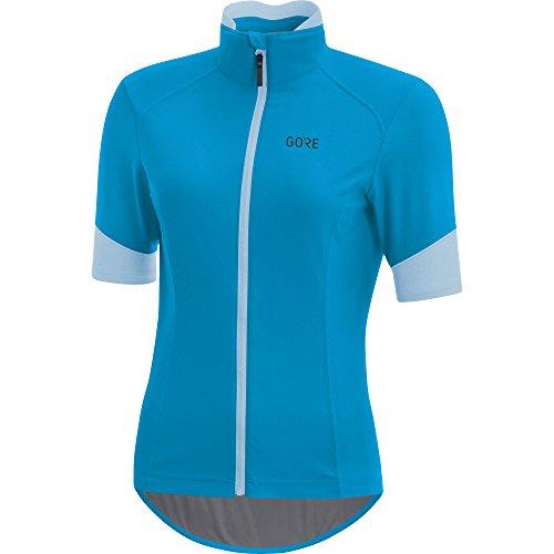 GORE WEAR Damen Winddichtes Rennrad-Kurzarmtrikot, Gore C5 Women Gore Windstopper Jersey, Größe: 36, Farbe: Blau, 100203
