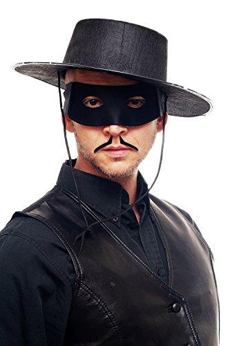 Dress Me Up - Maske Augenmaske Augenbinde Halbmaske Herren Schwarz Zorro Bandit Vigilante 65-86