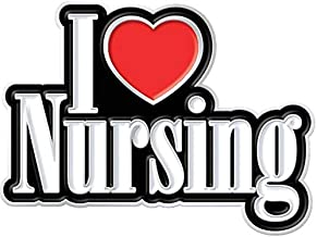 I Love Nursing Lapel Pin with Gift Card (Pack of 6) for National Nurses Week Appreciation Gifts