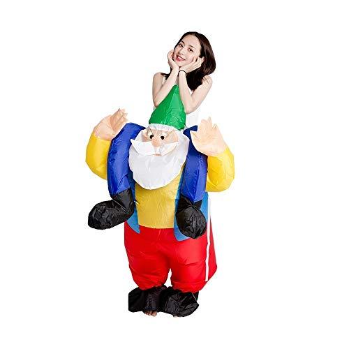 ZZYJYALG Novedad Rendimiento de Halloween Ropa De Santa con Traje Inflable Hombre Fiesta de Carnaval, Parodia del Partido del Traje de Cosplay de la técnica Walking apoyos del
