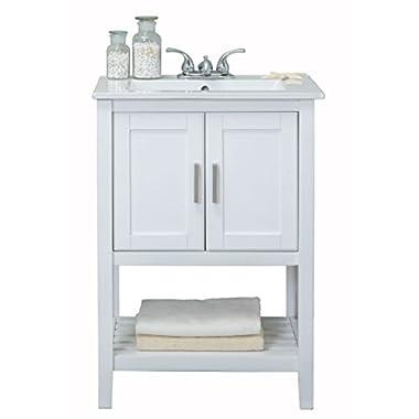 Legion Furniture WLF6020-W Sink Vanity, White, 24